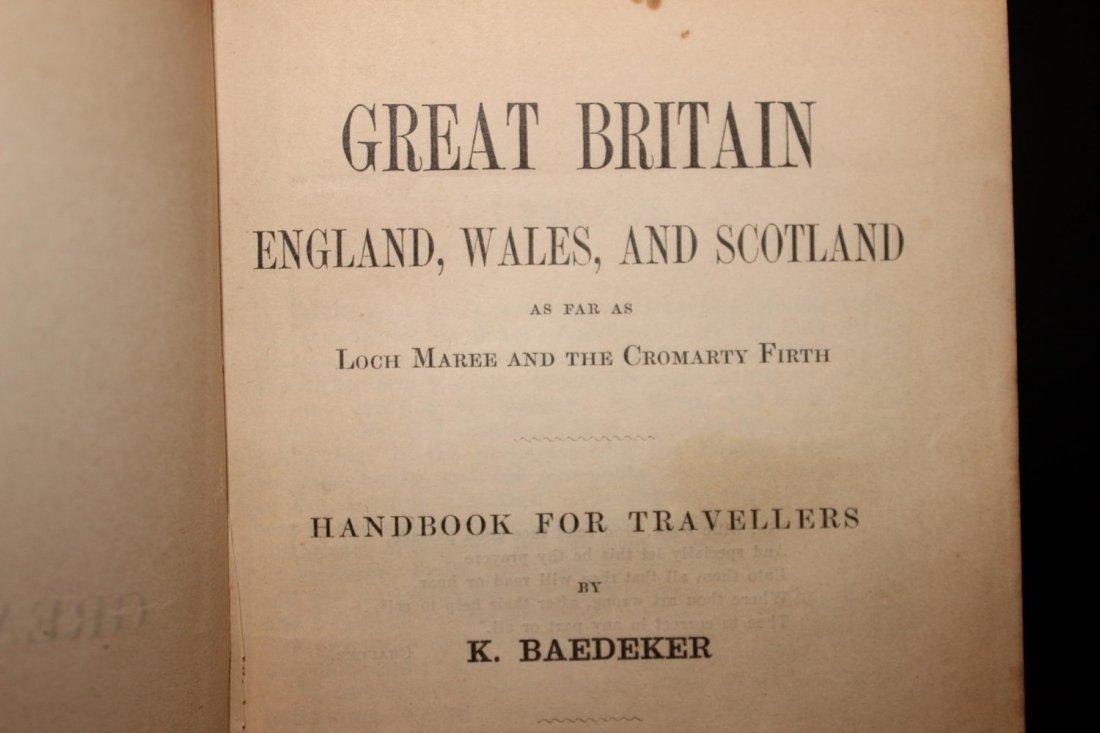 2 TRAVELERS HANDBOOKS ON GREAT BRITAIN 1887 - 1897 BOTH - 3