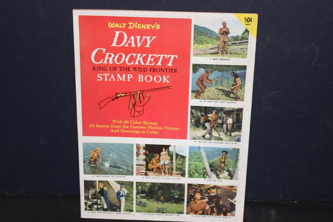 UNUSED AND COMPLETE DAVY CROCKETT STAMP BOOK NEAR MINT - 7
