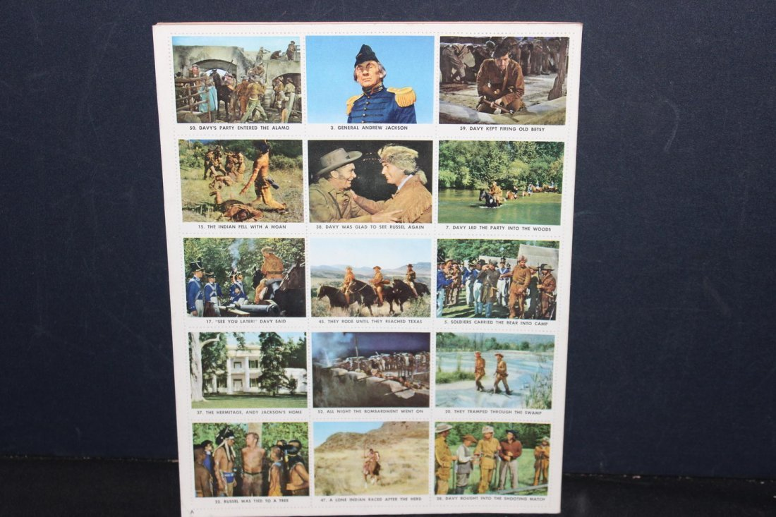 UNUSED AND COMPLETE DAVY CROCKETT STAMP BOOK NEAR MINT - 8