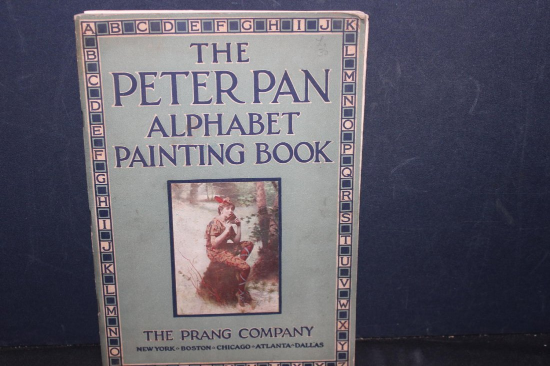 THE PETER PAN ALPHABET PAINTING BOOK 1914 BY THE PRANG