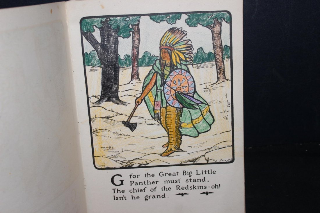 THE PETER PAN ALPHABET PAINTING BOOK 1914 BY THE PRANG - 3