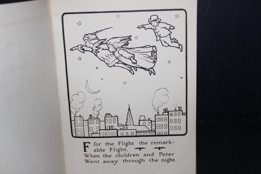 THE PETER PAN ALPHABET PAINTING BOOK 1914 BY THE PRANG - 4