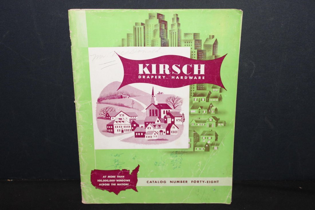 NICE OLD ADVERTISING CATALOG FROM KIRSCH DRAPERY