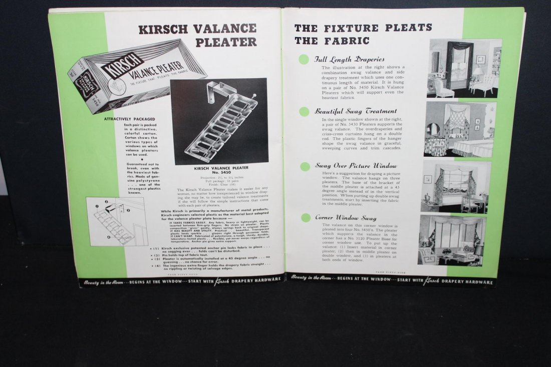 NICE OLD ADVERTISING CATALOG FROM KIRSCH DRAPERY - 2