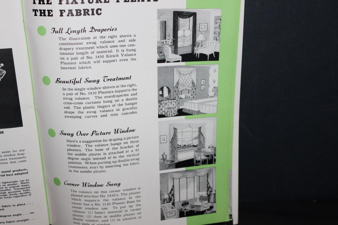 NICE OLD ADVERTISING CATALOG FROM KIRSCH DRAPERY - 4