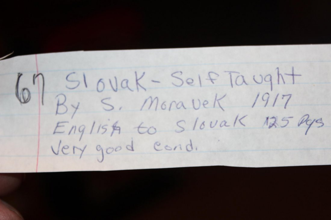 SLOVAK SELF-TAUGHT BY S MORAVEK 1917 ENGLISH TO SLOVAK - 2