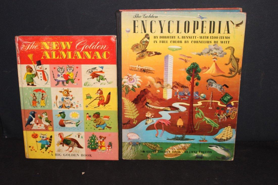 2 NICE CHILDREN'S BOOKS THE GOLDEN BOOK ALMANAC AND