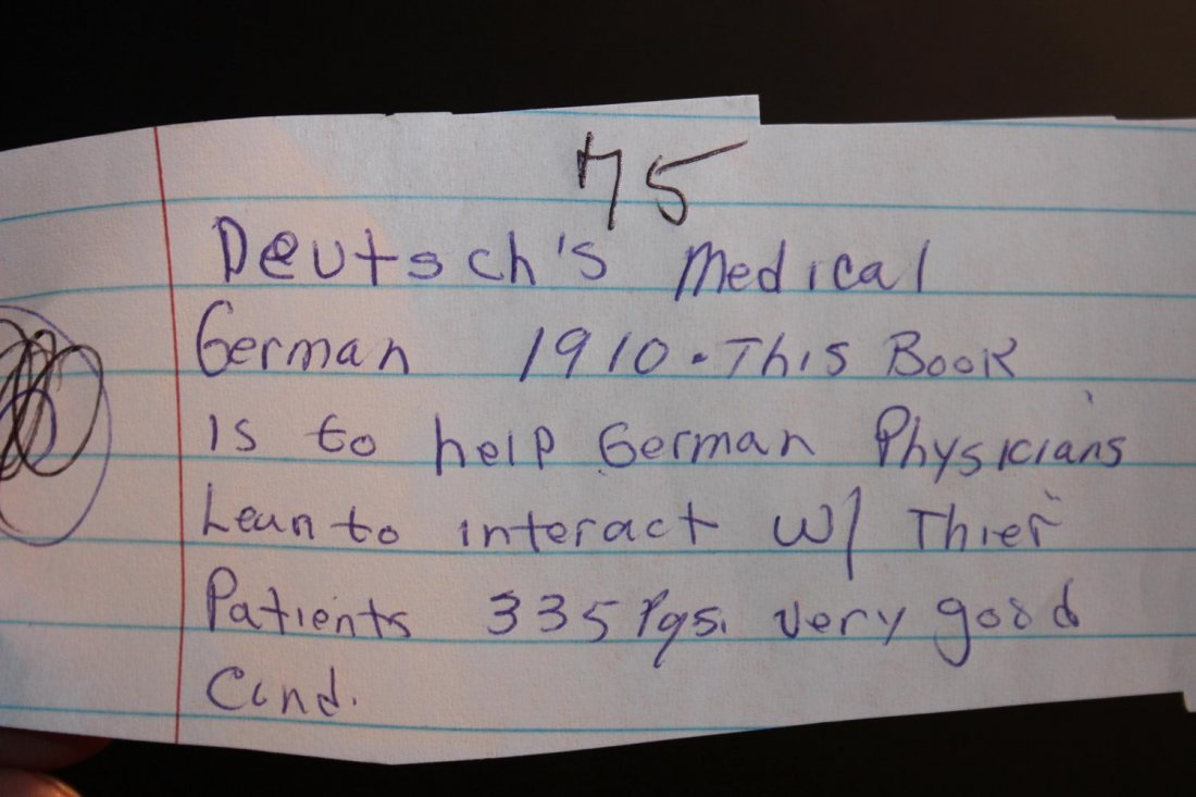 DEUTSCH'S MEDICAL GERMAN 1910- THIS BOOK IS TO HELP - 2