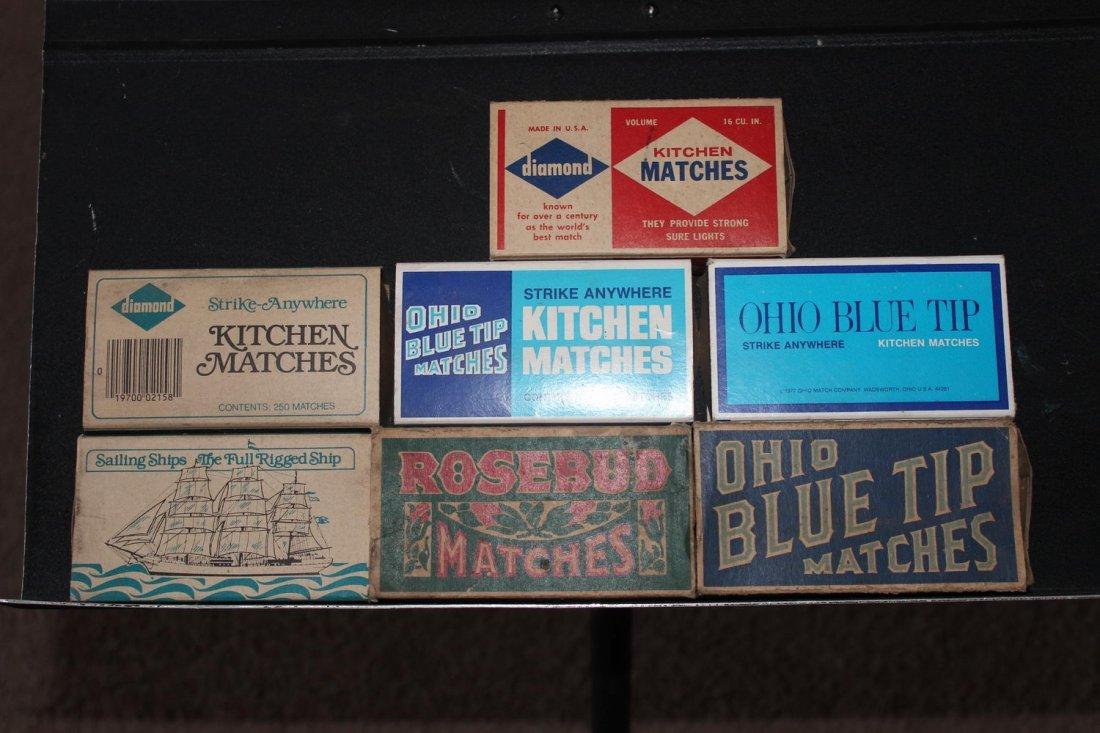 7 MATCHBOXES DIAMOND STRIKE ANYWHERE- OHIO BLUE TIP-