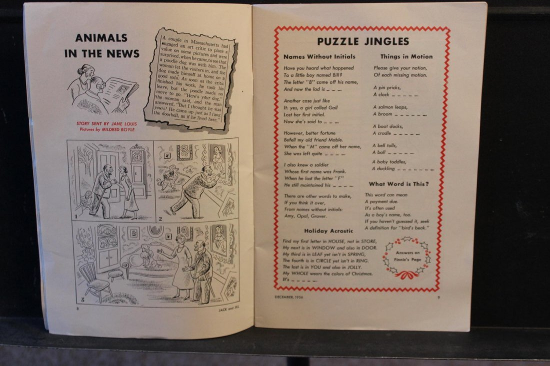JACK AND JILL DECEMBER 1956 NEAR MINT CONDITION - 2