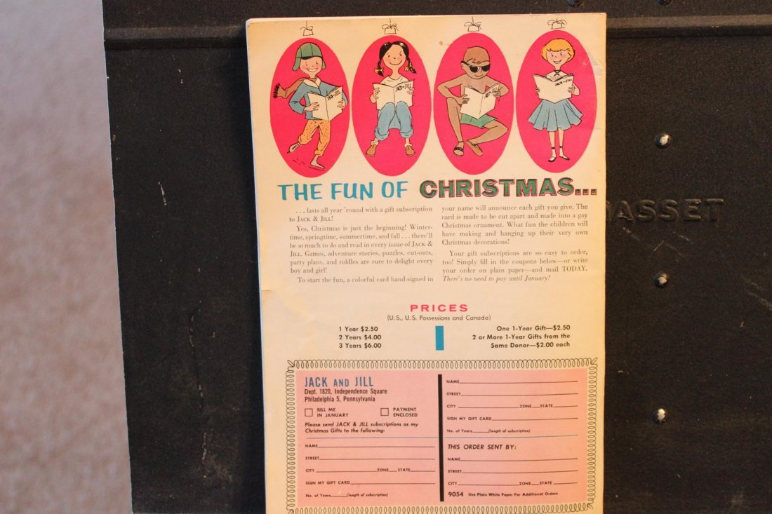 JACK AND JILL DECEMBER 1956 NEAR MINT CONDITION - 4