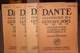 4 Issues Of Dante Illustrated By Gustav Ddore - Part