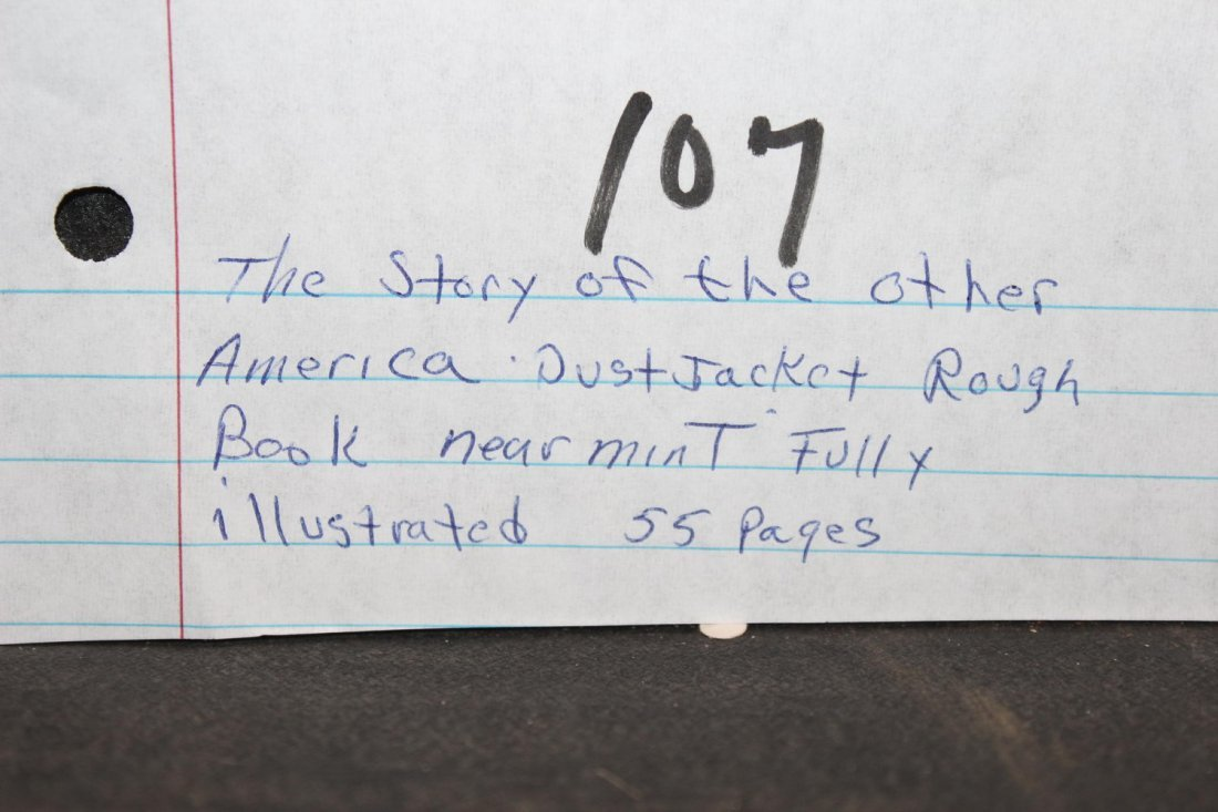 THE STORY OF THE OTHER AMERICA DUST JACKET ROUGH BOOK - 8