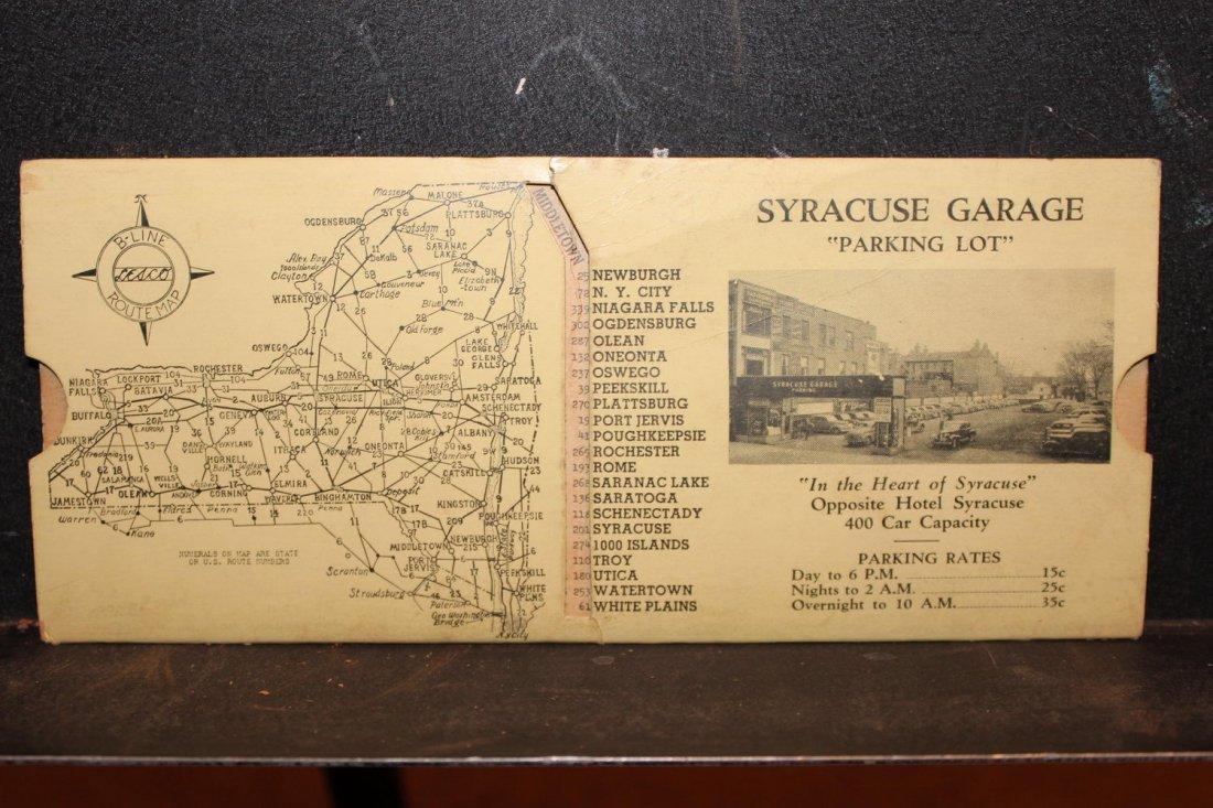 GREAT COLLECTIBLE SYRACUSE GARAGE MILEAGE INDICATOR