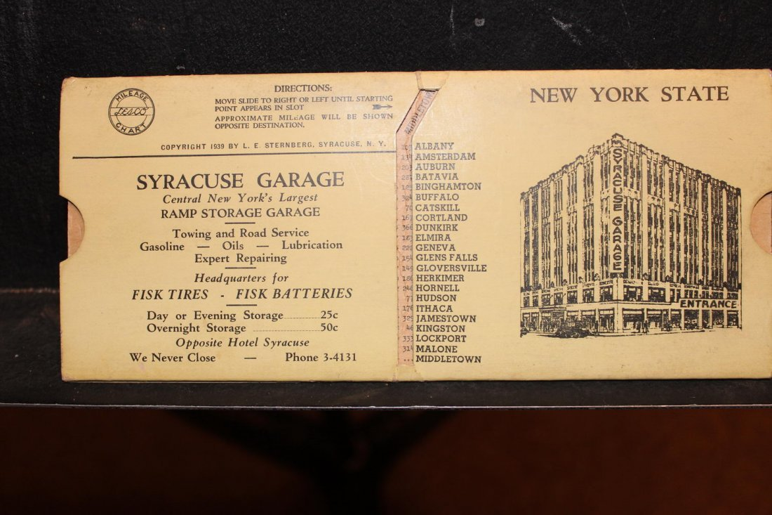 GREAT COLLECTIBLE SYRACUSE GARAGE MILEAGE INDICATOR - 3