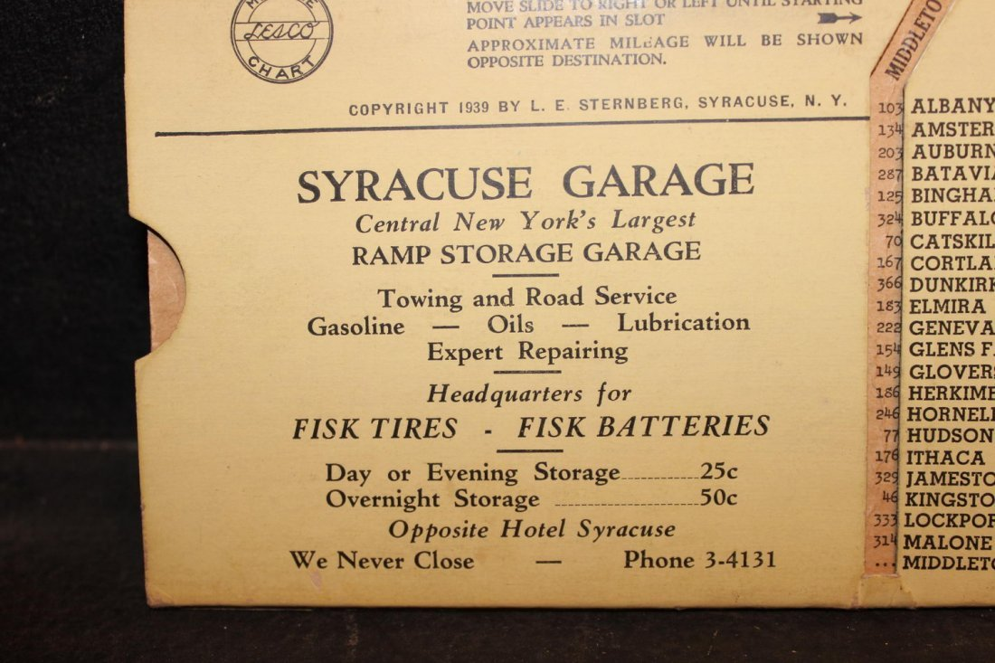 GREAT COLLECTIBLE SYRACUSE GARAGE MILEAGE INDICATOR - 4
