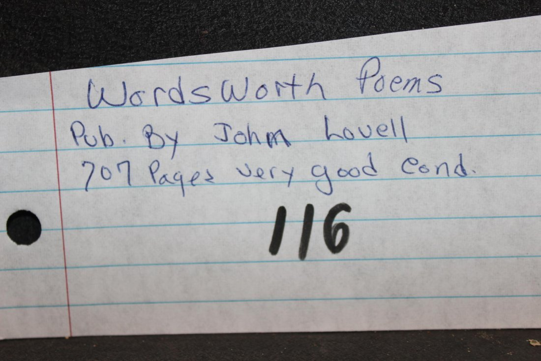 WORDSWORTH POEMS PUBLISHED BY JOHN LOVELL 770 PAGES - 6