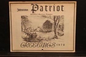 Local Interest Johnstown 1970 Calendar From Johnstown