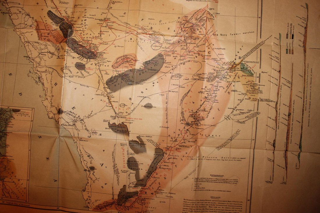 1878 MAP OF NORTH WESTERN ARABIA - FOLDS BUT OTHERWISE - 3