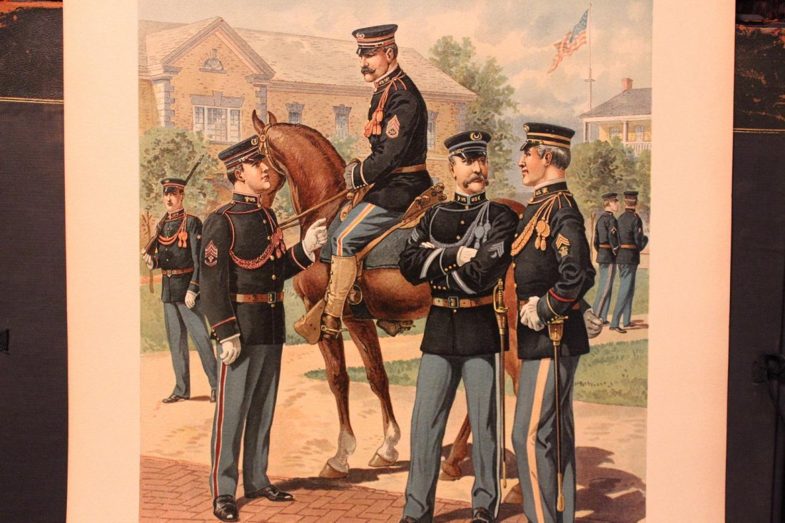 UNIFORMS OF THE US ARMY 1898- 1907 17 WONDERFUL SIGNED - 10