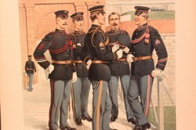 Uniforms Of The Us Army 1898- 1907 17 Wonderful Signed