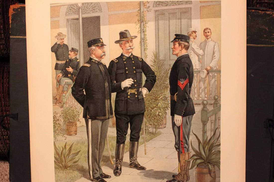 UNIFORMS OF THE US ARMY 1898- 1907 17 WONDERFUL SIGNED - 3