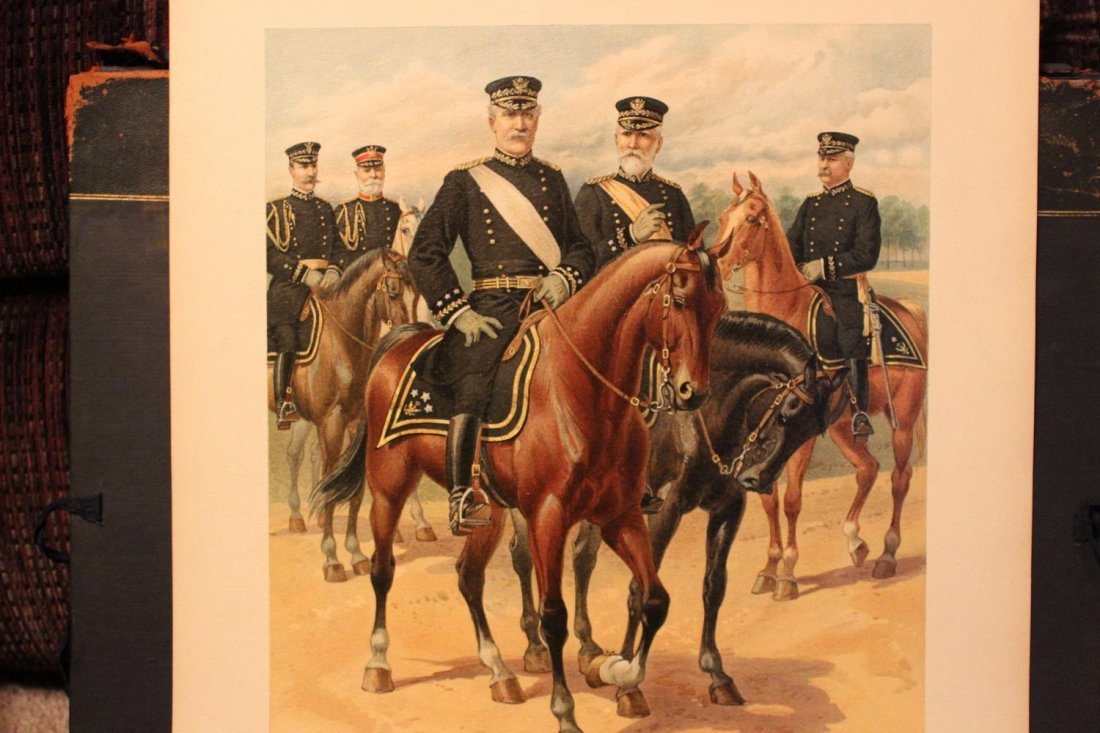 UNIFORMS OF THE US ARMY 1898- 1907 17 WONDERFUL SIGNED - 5