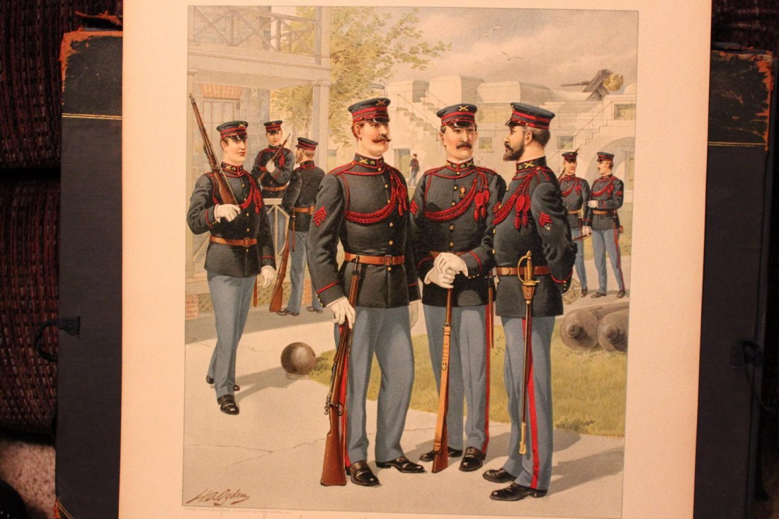 UNIFORMS OF THE US ARMY 1898- 1907 17 WONDERFUL SIGNED - 8