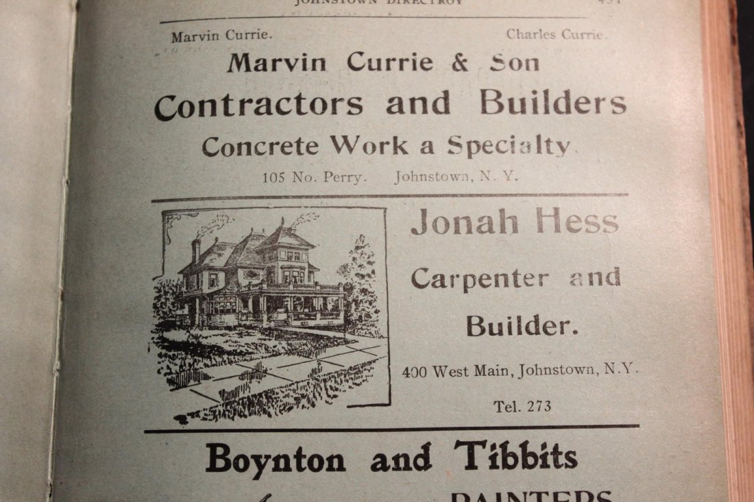 LOCAL INTEREST GREAT BOOK 1910 GLOVERSVILLE AND - 10