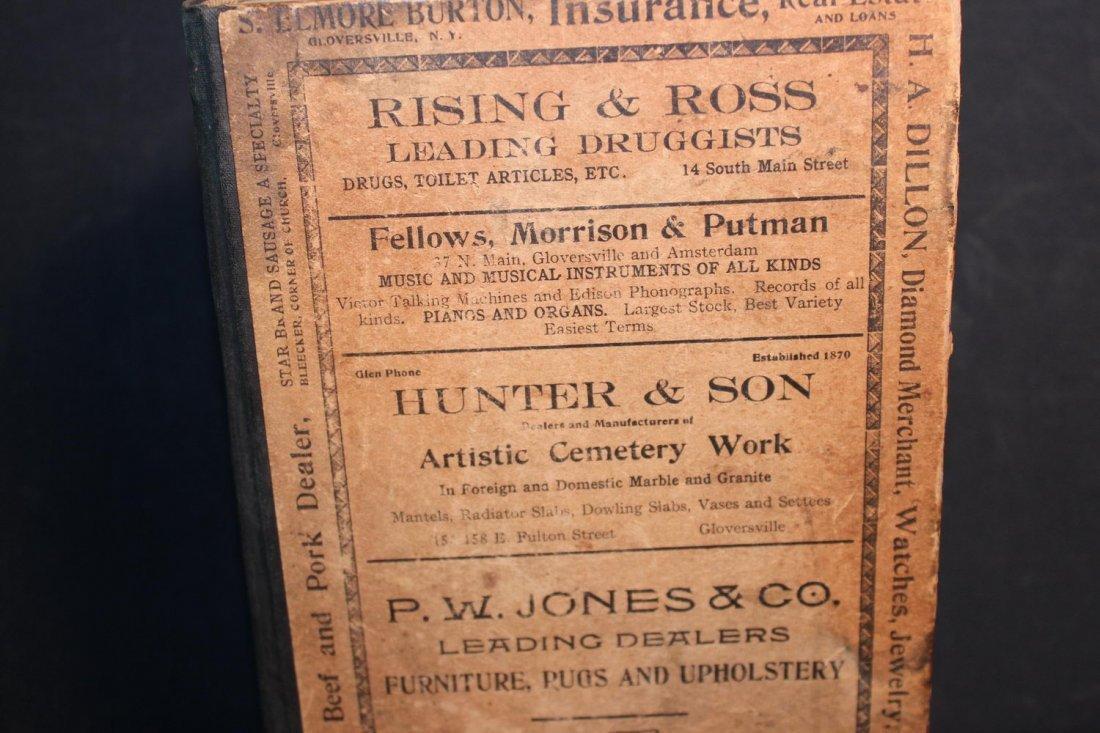 LOCAL INTEREST GREAT BOOK 1910 GLOVERSVILLE AND