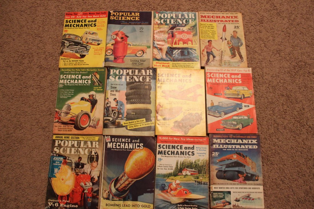 12 ISSUES OF POPULAR SCIENCE & SCIENCE & MECHANICS