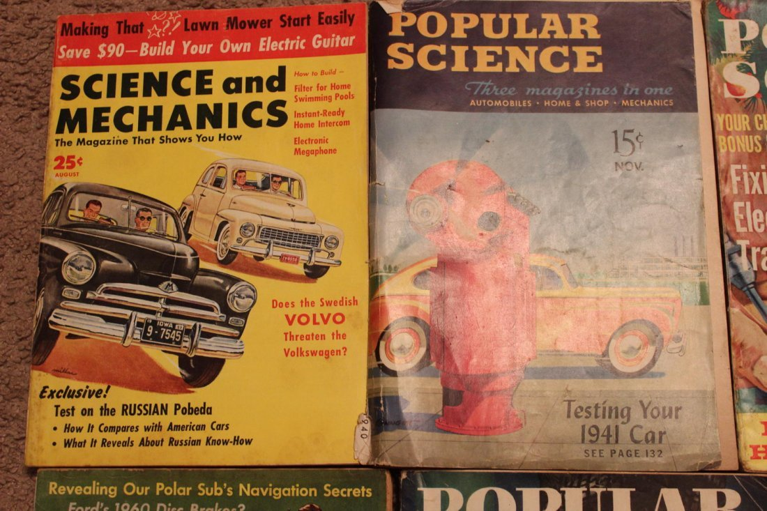 12 ISSUES OF POPULAR SCIENCE & SCIENCE & MECHANICS - 2