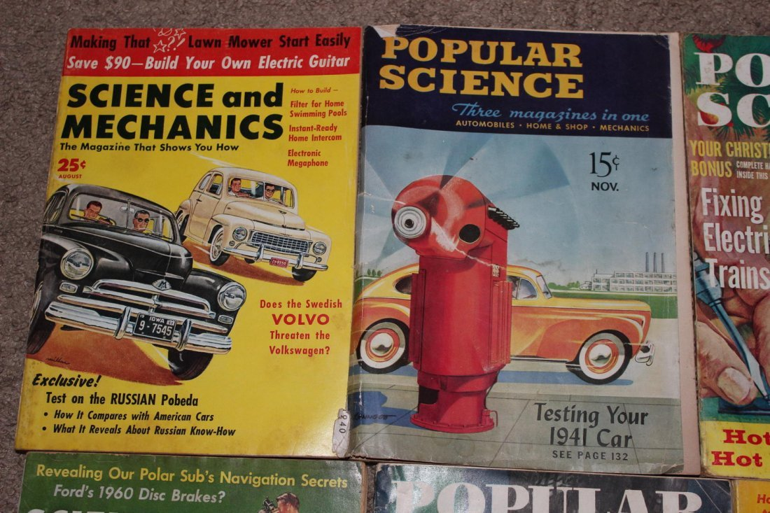 12 ISSUES OF POPULAR SCIENCE & SCIENCE & MECHANICS - 3