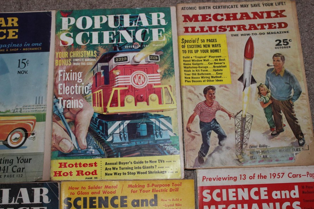 12 ISSUES OF POPULAR SCIENCE & SCIENCE & MECHANICS - 4