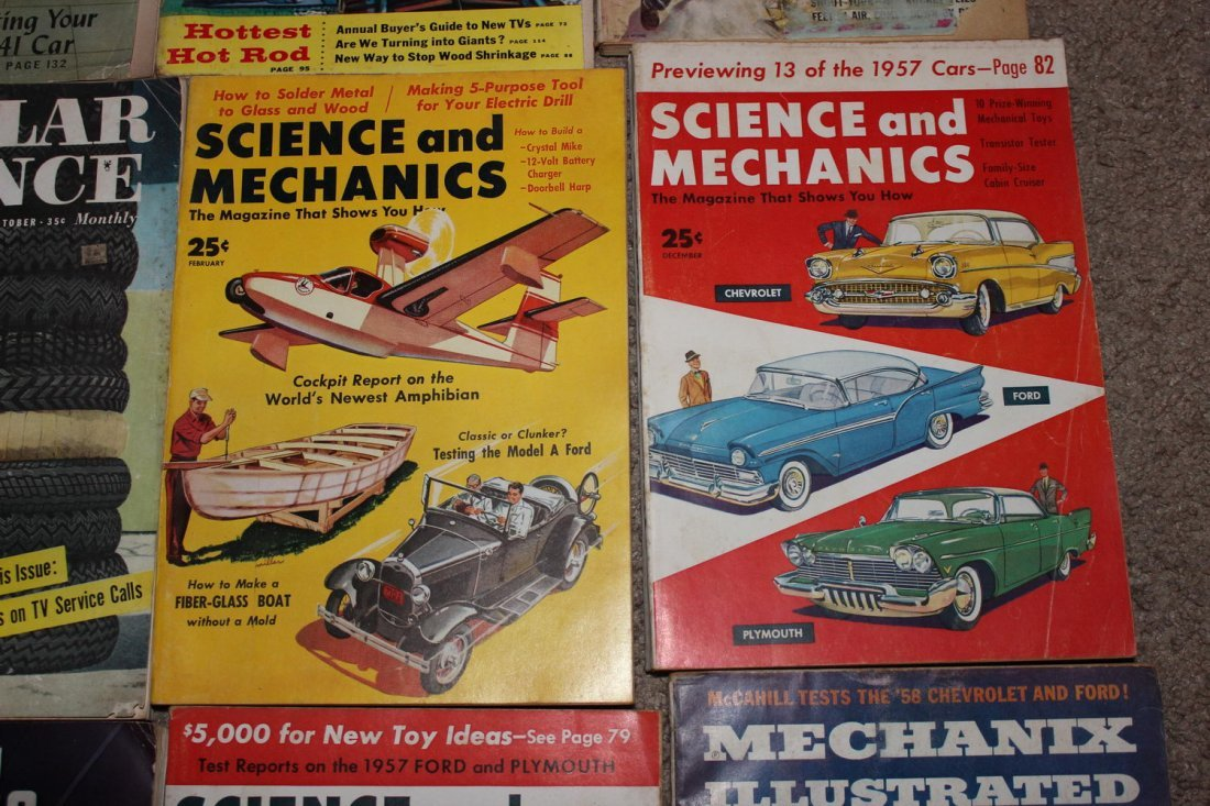12 ISSUES OF POPULAR SCIENCE & SCIENCE & MECHANICS - 5