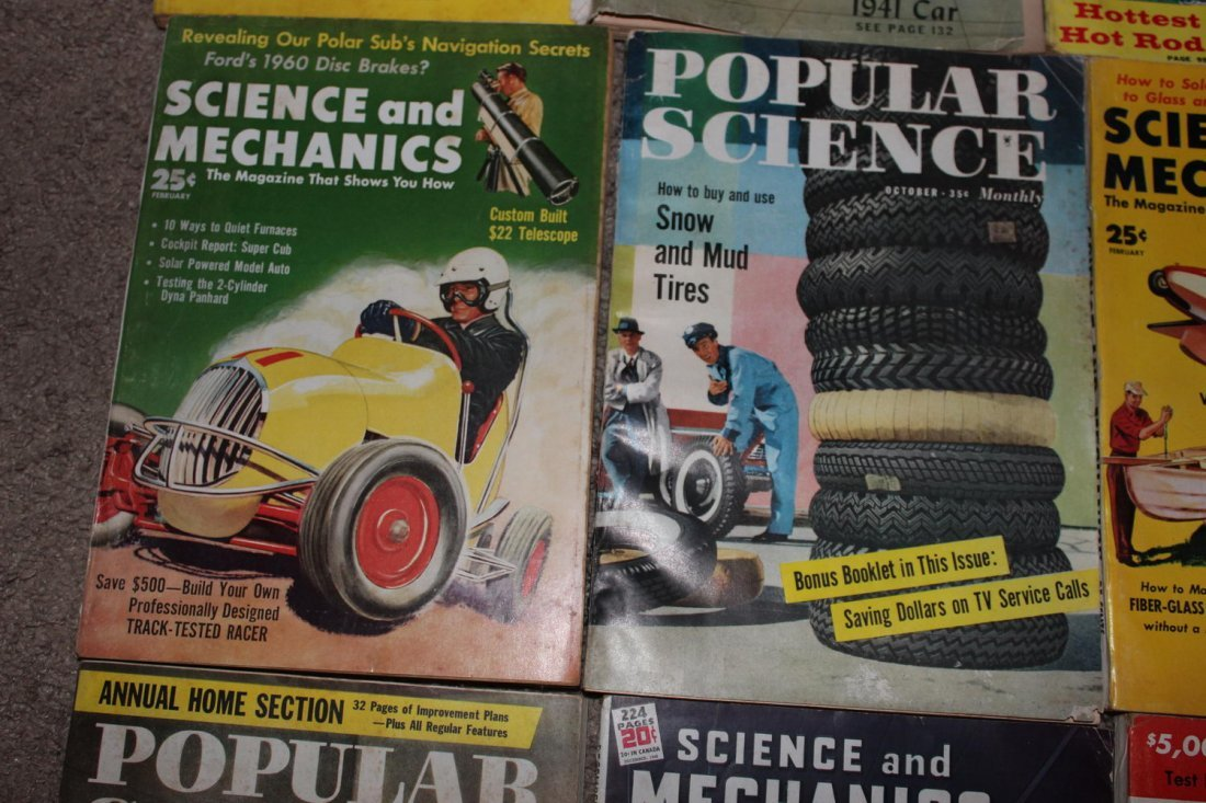12 ISSUES OF POPULAR SCIENCE & SCIENCE & MECHANICS - 6