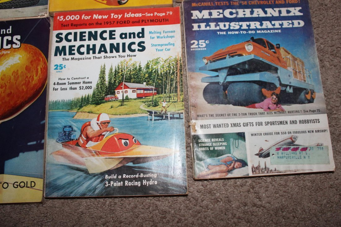 12 ISSUES OF POPULAR SCIENCE & SCIENCE & MECHANICS - 8
