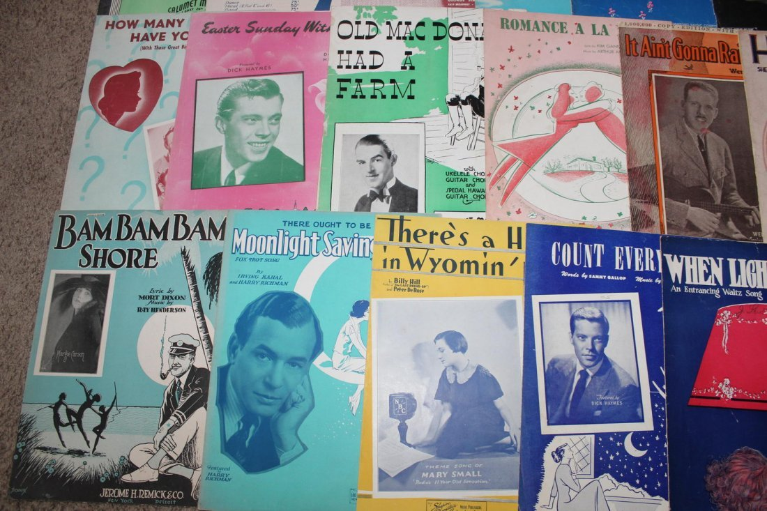 40 PIECES OF SHEET MUSIC SEVERAL WELL-KNOWN FACES GOOD - 5