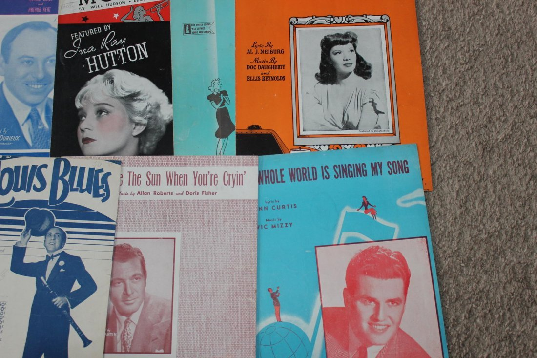 40 PIECES OF SHEET MUSIC SEVERAL WELL-KNOWN FACES GOOD - 6