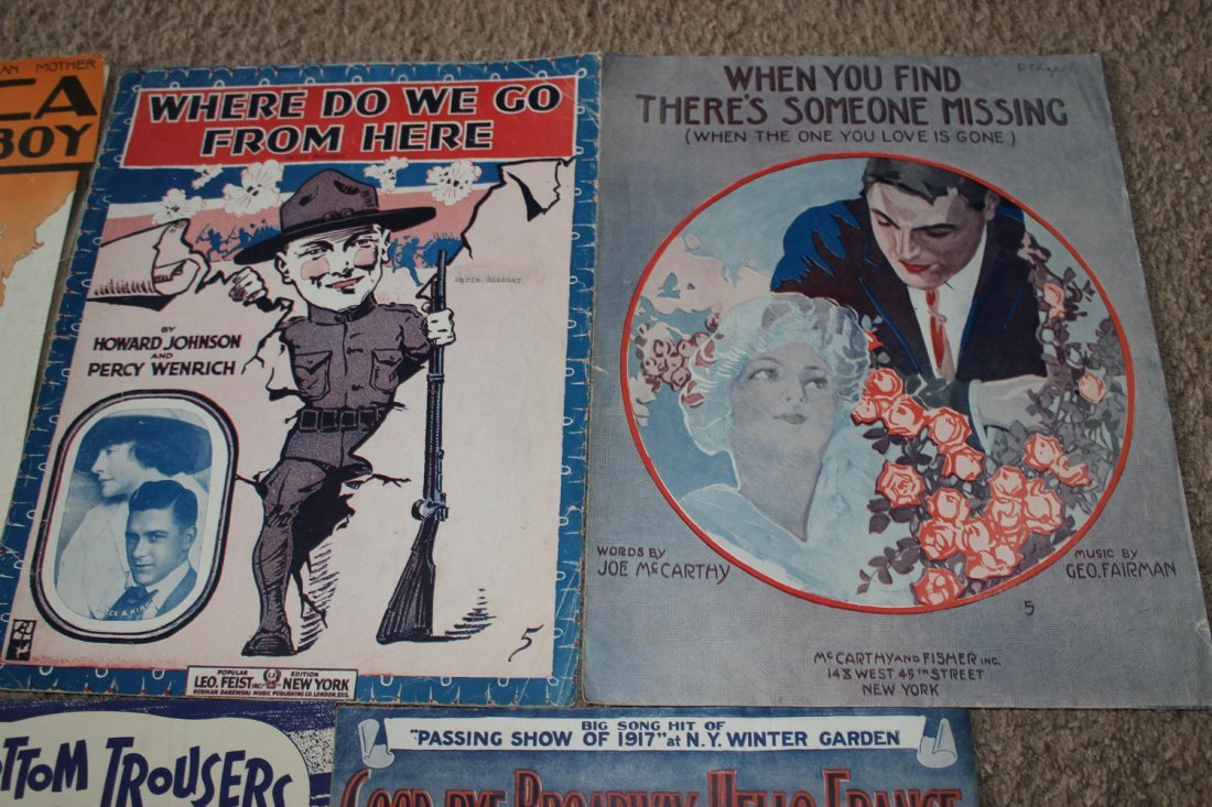 14 PIECES OF SHEET MUSIC SEVERAL WELL-KNOWN FACES GOOD - 7