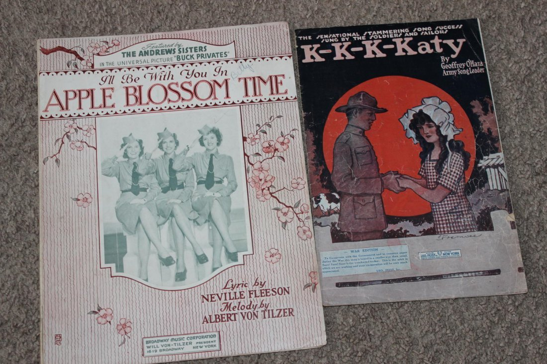 14 PIECES OF SHEET MUSIC SEVERAL WELL-KNOWN FACES GOOD - 8