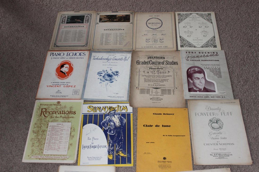 15 PIECES OF PIANO SHEET MUSIC