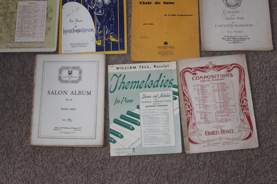 15 PIECES OF PIANO SHEET MUSIC - 2