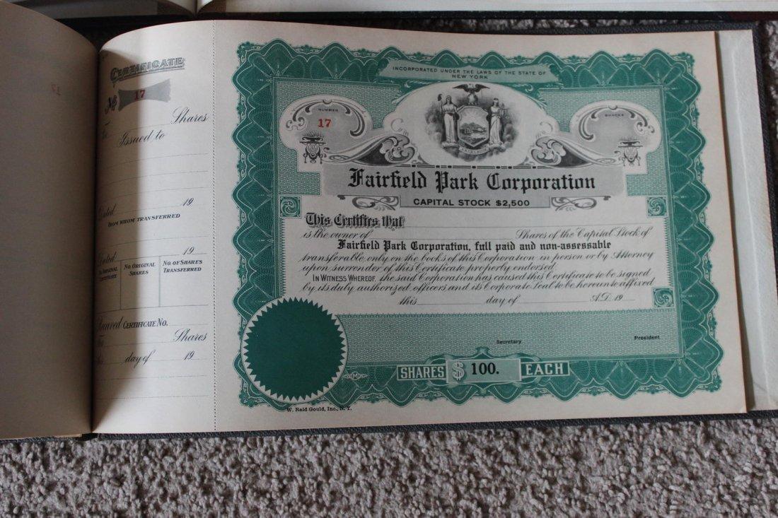 2 STOCK CERTIFICATES BOOKS - 1 FRANK J MARTIN & SON - 5
