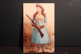 Unusual Postcard Of Famous Annie Oakley - Known As