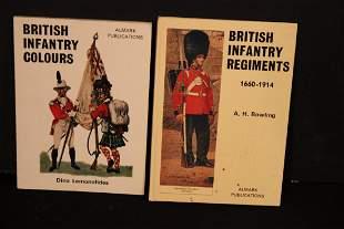 2 BOOKS ON BRITISH INFANTRY 1660-1914 PAPERBACK 1971