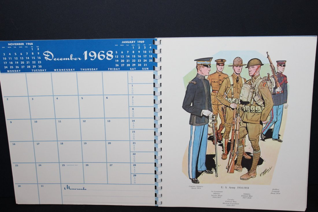 1969 MILITARY CALENDAR VERY COLORFUL - EXC. COND - 2