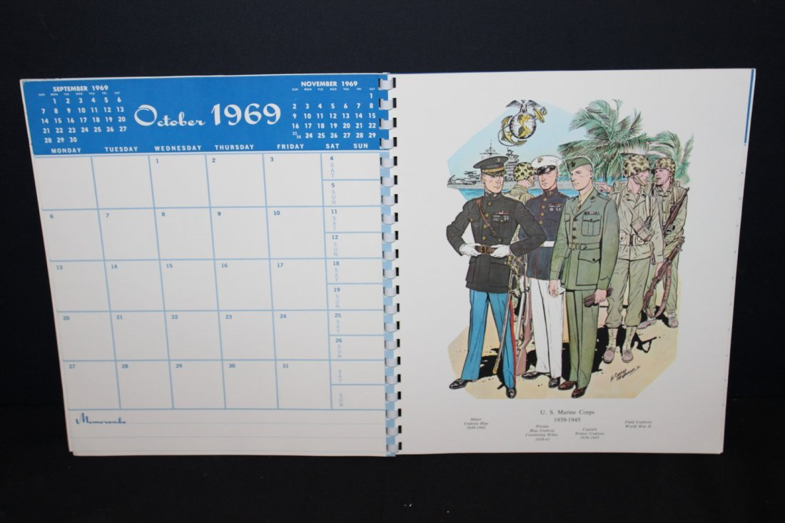 1969 MILITARY CALENDAR VERY COLORFUL - EXC. COND - 3