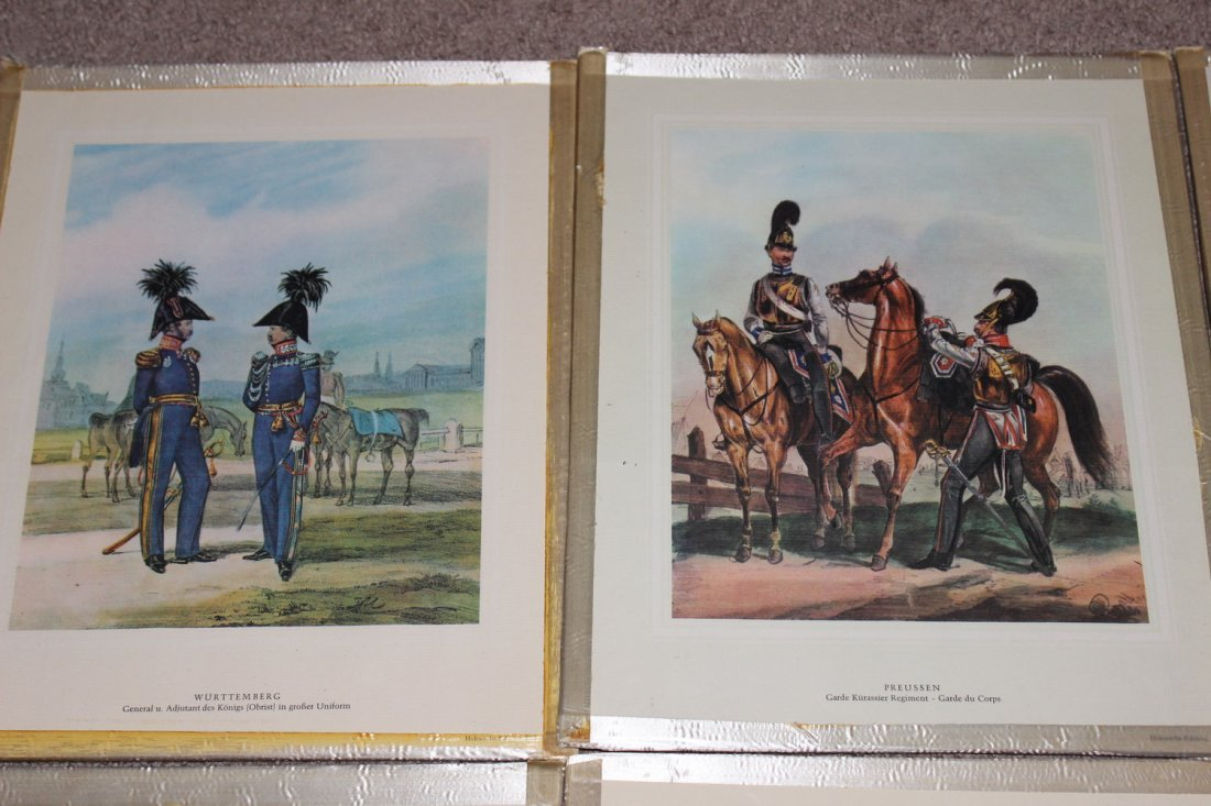 10 FRAMED MILITARY PLATES - VERY GOOD COND - 2