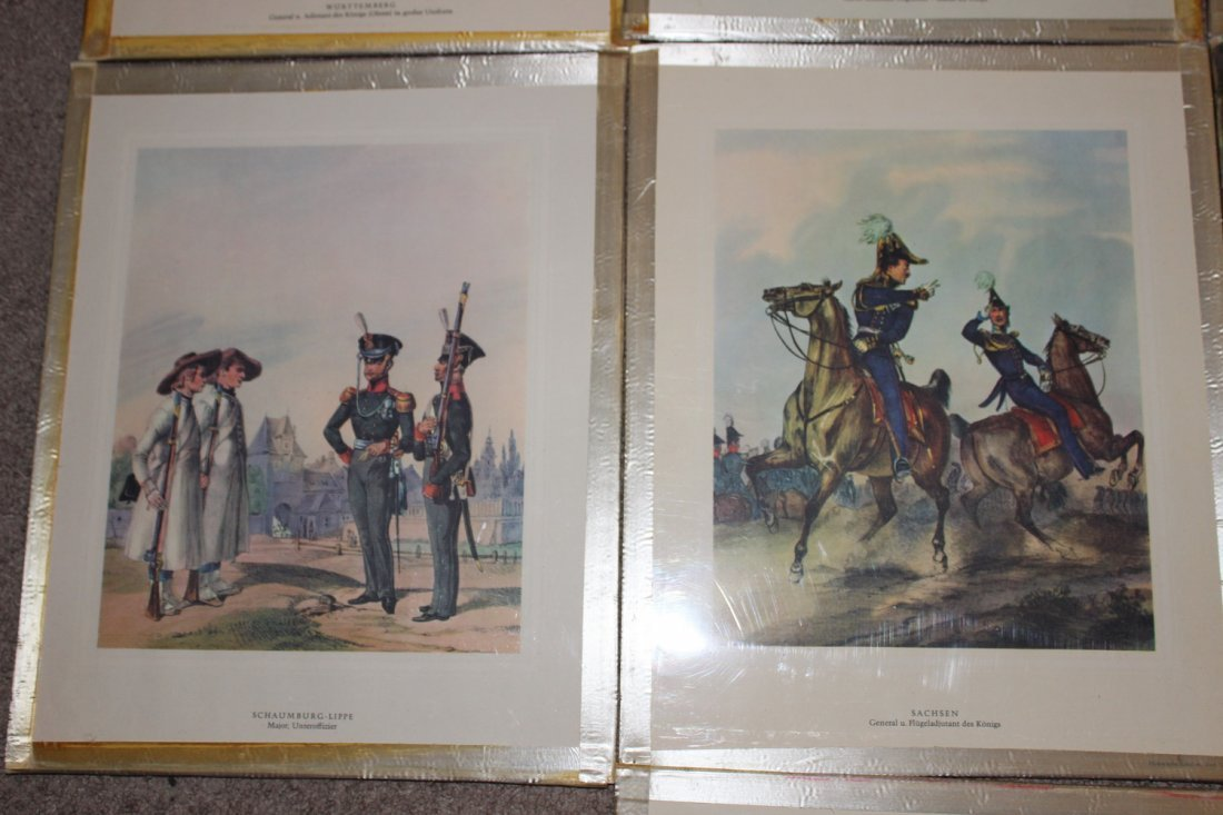 10 FRAMED MILITARY PLATES - VERY GOOD COND - 3